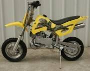 50cc dirt bike yellow